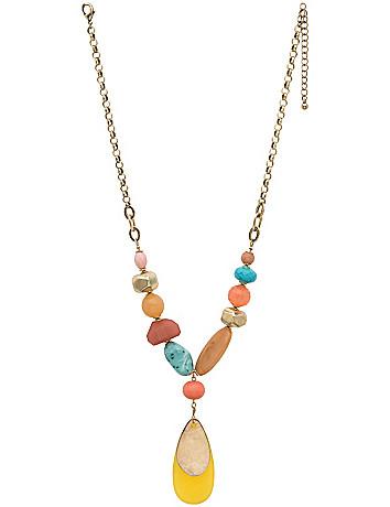 Teardrop pendant necklace by Lane Bryant