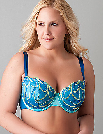 Full figure Wave embroidered demi bra by Cacique