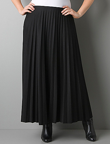 Pleated long skirt by Lane Bryant