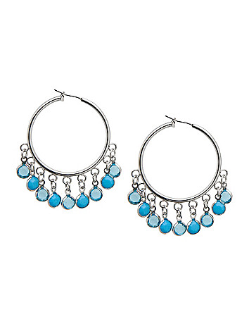 Disc bead hoop earrings by Lane Bryant