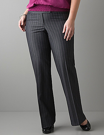 Colored pinstripe pant by Lane Bryant