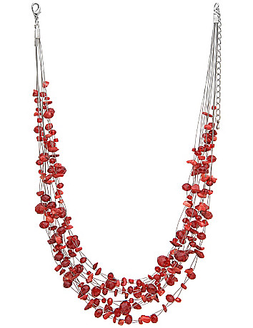 Multi row beaded illusion necklace by Lane Bryant
