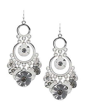 Chandelier disc earrings by Lane Bryant