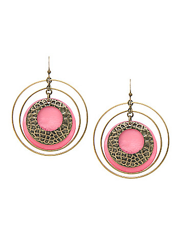 Hoop and shell earrings by Lane Bryant