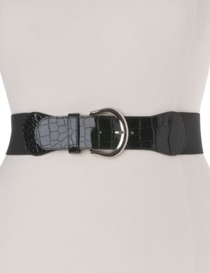 Patent croc stretch belt