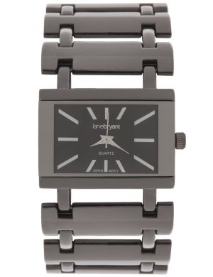 Rectangle face fashion watch by Lane Bryant