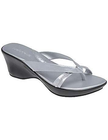 Rhinestone strap comfort sandal by Lane Bryant