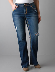 Distressed bootcut jean by Seven7 by LANE BRYANT