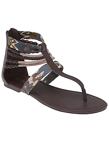 Printed gladiator sandal by Lane Bryant