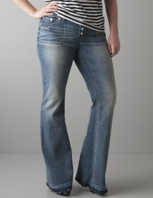 Button fly flare jean by Seven7