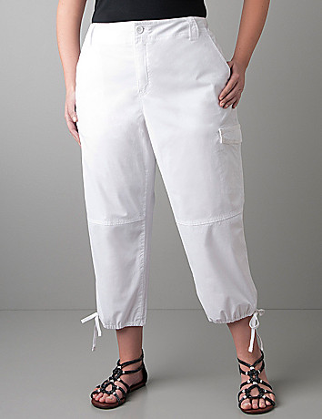 Drawstring hem crop by DKNY JEANS