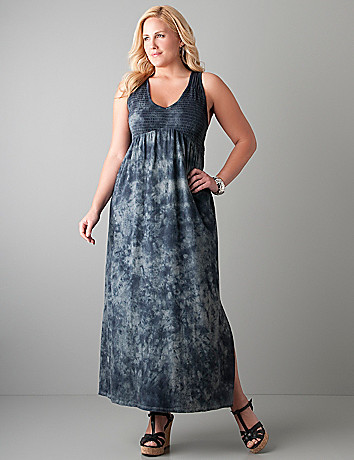 Plus size Tie dye maxi dress by DKNY JEANS