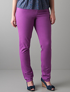 Skinny stretch jean by DKNY JEANS Plus Sizes Purple