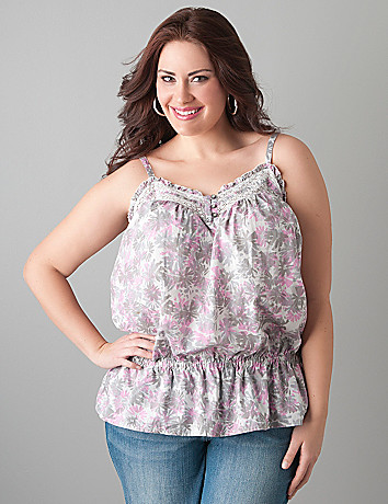 Full figure Spring bloom tank by DKNY JEANS