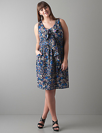 Ruffled floral dress by DKNY JEANS
