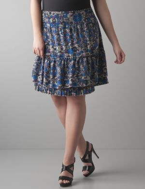 Ruffled floral skirt by DKNY JEANS