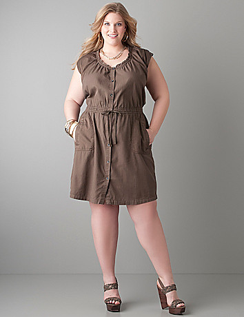Plus size Shirt dress by DKNY JEANS