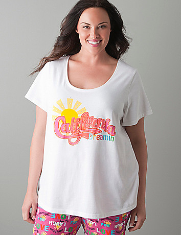 California Dreamin' sleep tee by Cacique