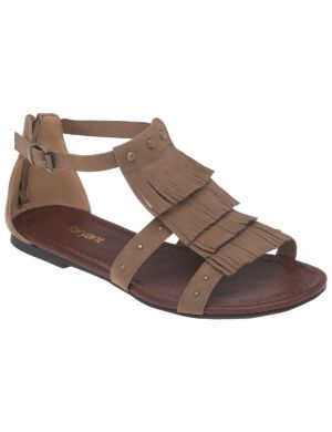 Fringed gladiator sandal