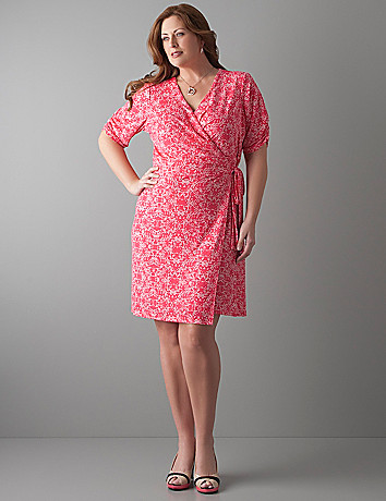Polka dot wrap dress by Lane Bryant