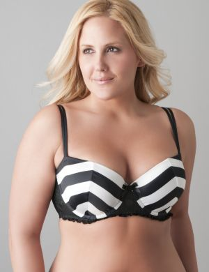 Satin striped push up bra