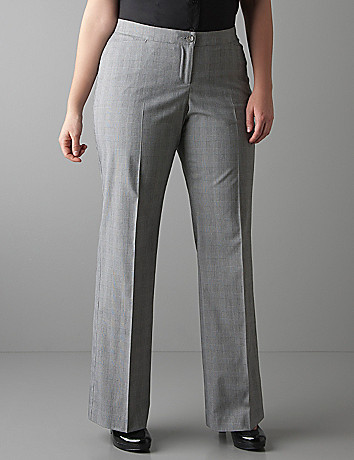 Plus sized Plaid trouser with Tighter Tummy Technology