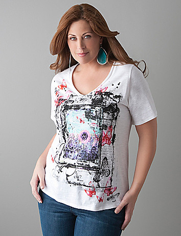 Embellished butterfly tee by Lane Bryant