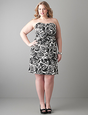 Convertible rose silhouette dress by Lane Bryant