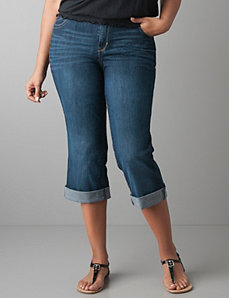 Moody wash denim crop by Lane Bryant