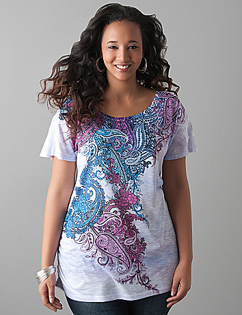 Embellished paisley tee by Lane Bryant