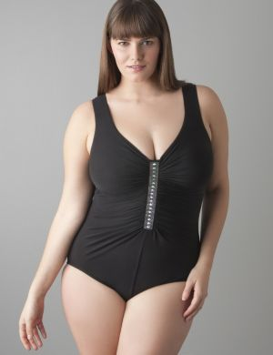 Jewel box one piece swimsuit by Miraclesuit