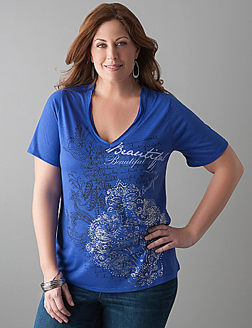 Studded Beautiful tee by Lane Bryant