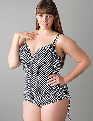 Plus size maillot swim suit by Cacique