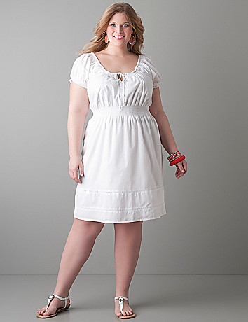 Peasant dress by Lane Bryant