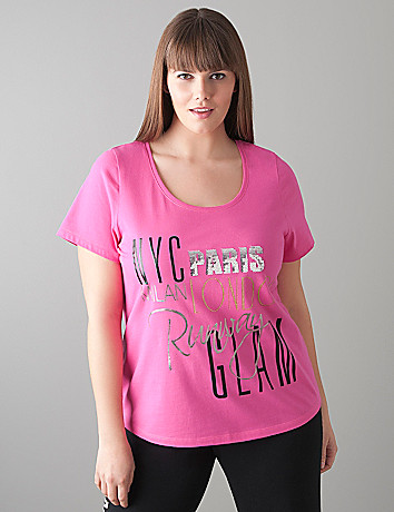 Runway Glam sequin tee by Cacique