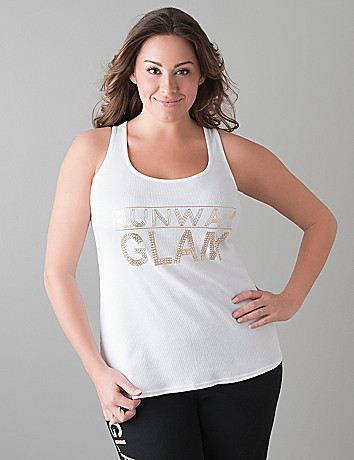 Runway Glam ribbed tank by Cacique