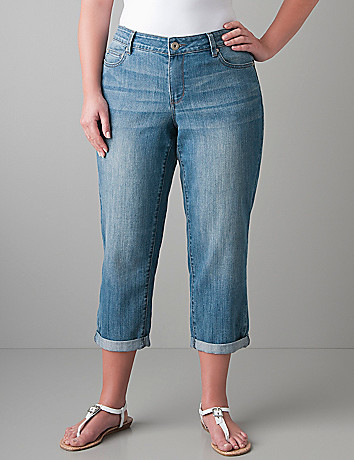 Full figure Soho denim crop by DKNY JEANS