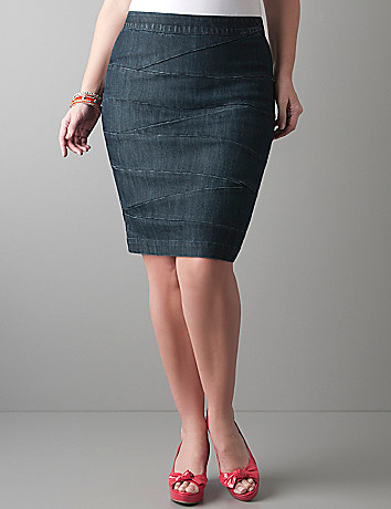 Denim bandage skirt by Lane Bryant
