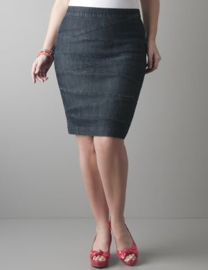 Denim bandage skirt