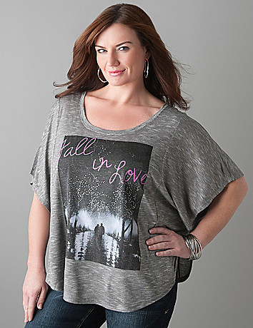 Cocoon embellished graphic tee by Lane Bryant