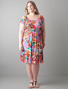 Knit peasant dress by Lane Bryant