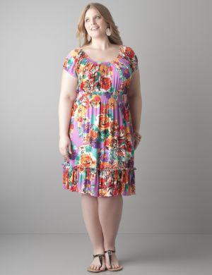 Knit peasant dress