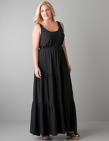 Full figure Ruched maxi dress by Seven7