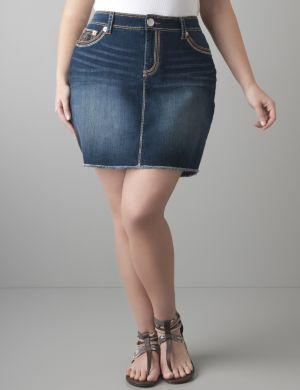 Denim pencil skirt by Seven7