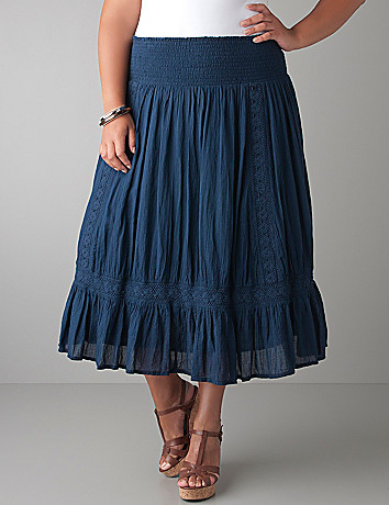 Gauze peasant skirt by DKNY JEANS