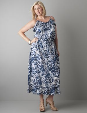 Floral maxi dress by DKNY JEANS