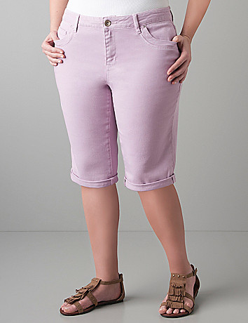Colored denim short by DKNY JEANS