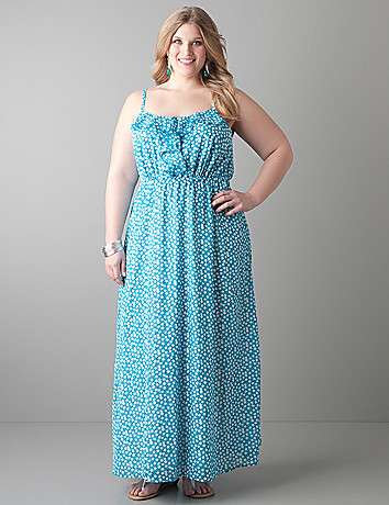 Confetti print maxi dress by Lane Bryant