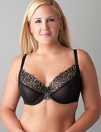 Leopard trim unlined bra by Cacique