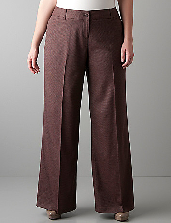 Patterned wide leg trouser by Lane Bryant